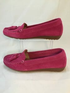 Cefalu, 8939 Fuschia pink suede leather loafer