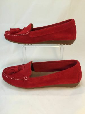 Cefalu, 8939 Red suede leather loafer
