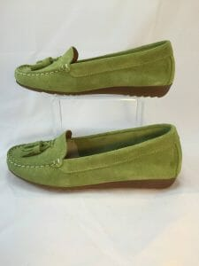 Cefalu, 8939 Green suede leather loafer
