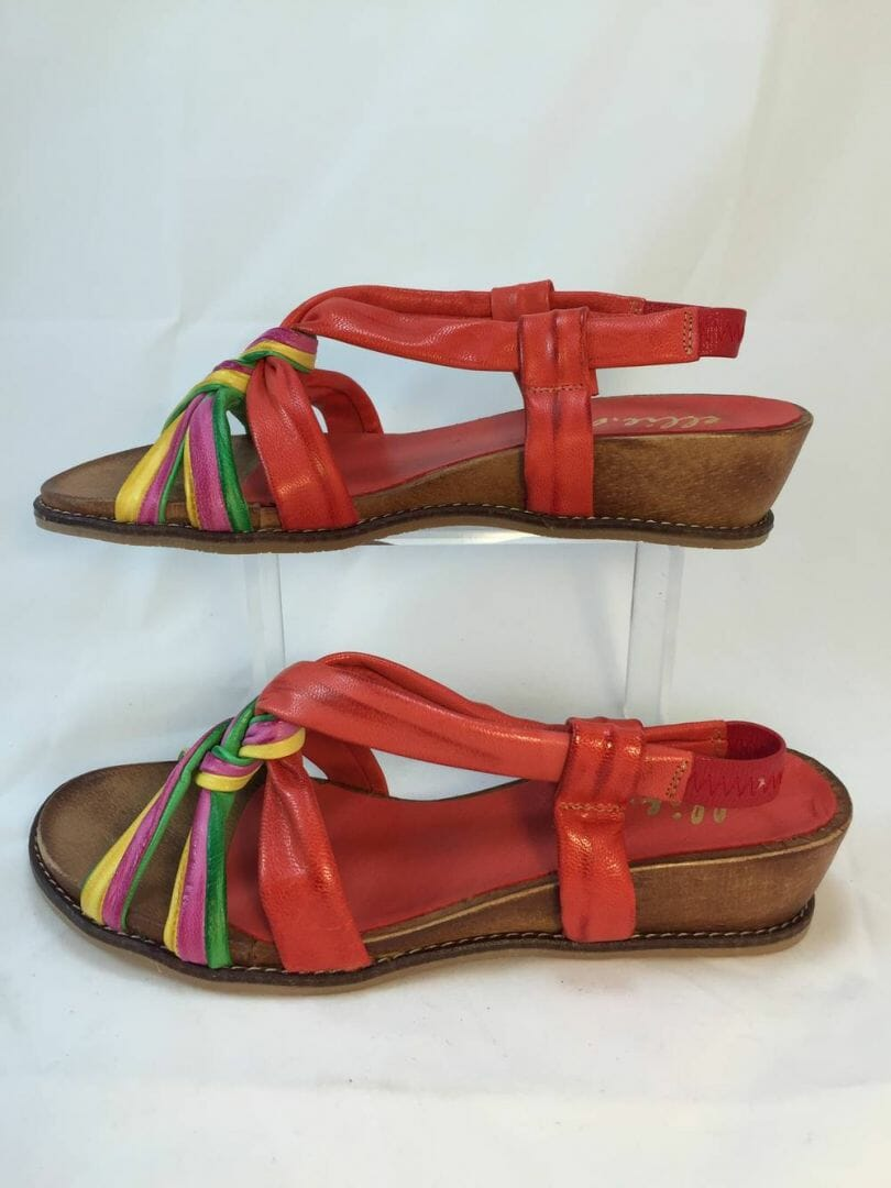 Ellie.d 3160 orange, pink, yellow, green multicolour sandal