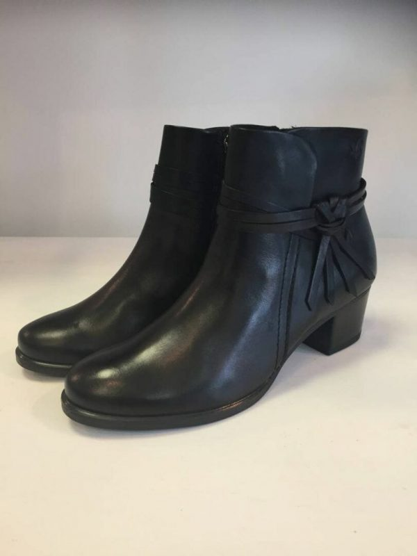 Caprice 9-25359-29 Black leather ankle boot
