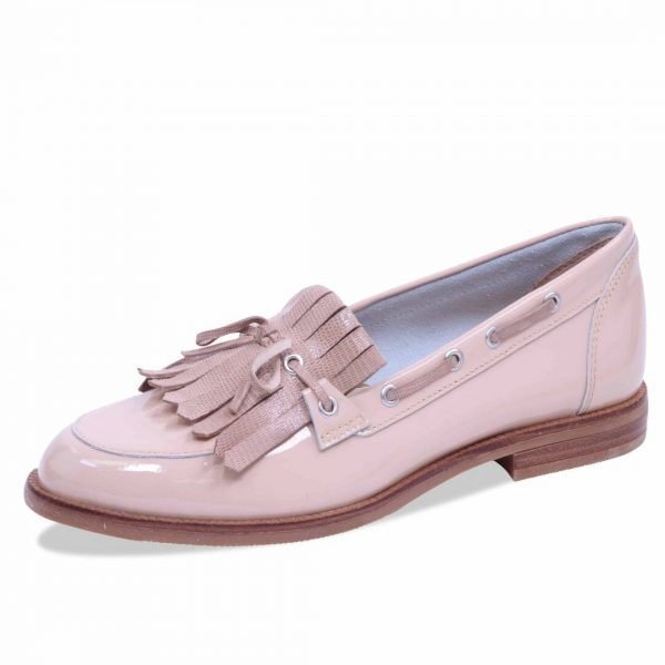 Caprice 9-24208-20 beige patent leather combination loafer