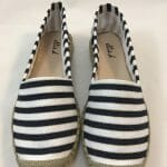 Cefalu Lieven navy blue leather peep toe wedge