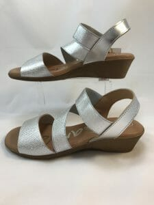 Ellie.d 5509 beige, black, white and silver multicolour sandal