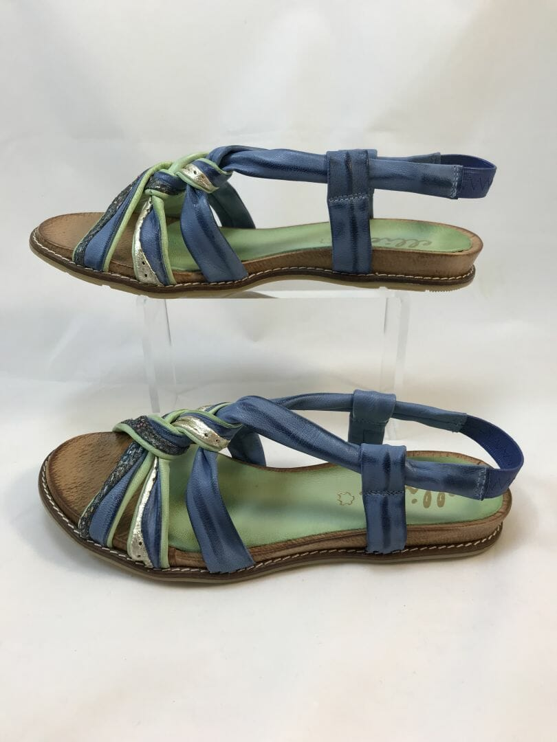 Ellie.d 3910 blue, green, silver multicolour sandal