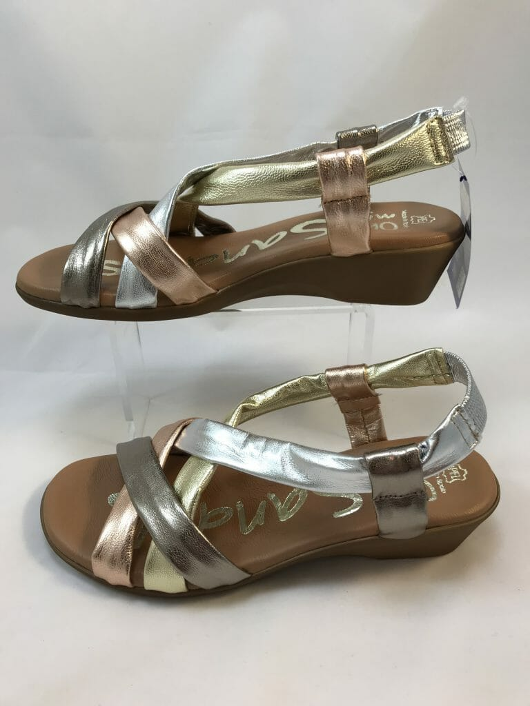 Oh My Sandals 3624 Gold Rose Gold Silver And Bronze
