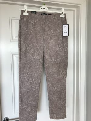 "Robell ""Bella"" 51560 54401 ankle grazer 7/8th jacquard trousers"