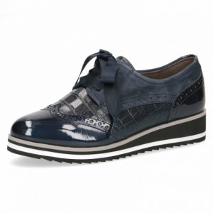 Caprice 9-23300-25 patent leather combination brogue with ribbon lace