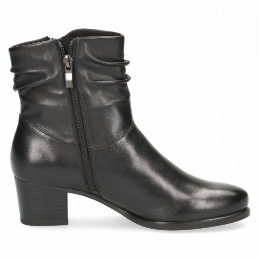 "Caprice 9-25347-25 soft leather ankle boot with 2"" heel"