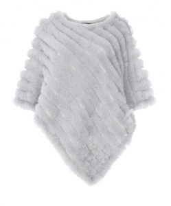 Jayley, faux fur cashmere lined poncho