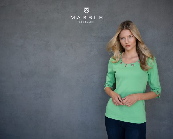 Marble 6057 classic fit 100% cotton round neck t shirt with rivets