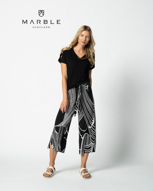 Marble 6154 classic t-shirt with criss cross sleeve