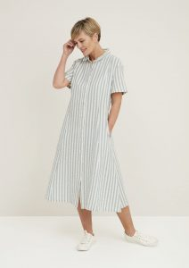 Adini Diana 100% cotton seersucker shirt dress