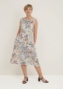 Adini Marin sleeveless dress in hothouse print