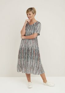 Adini Cressida dress in horizon print