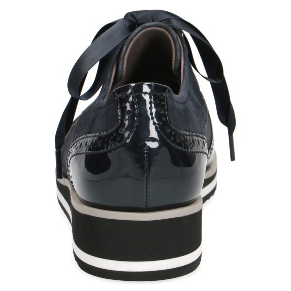 Caprice 9-23300-27 patent leather combination brogue with ribbon lace