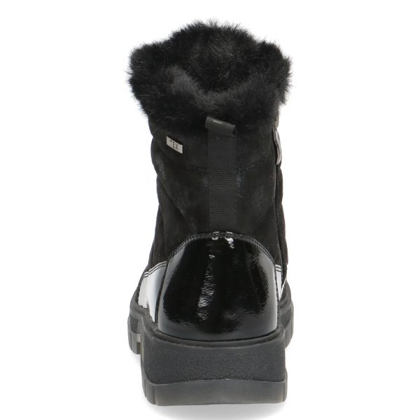 Caprice 9-26214-27 Black combination tex coated water resistant boots