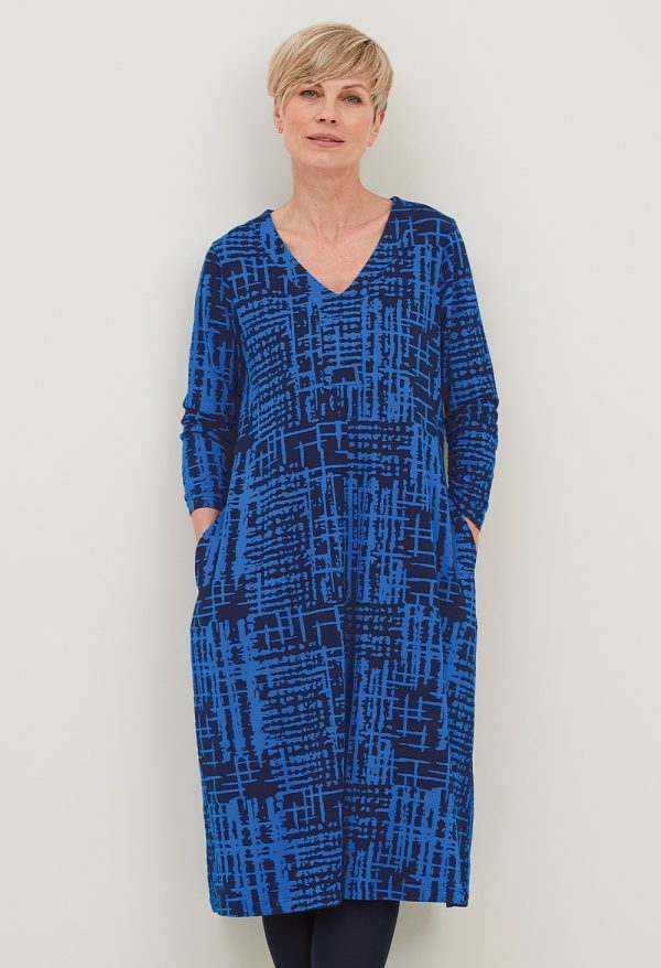 Adini Ridley dress in abstract check print